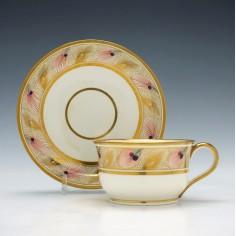 Davenport Porcelain Cup & Saucer c1825