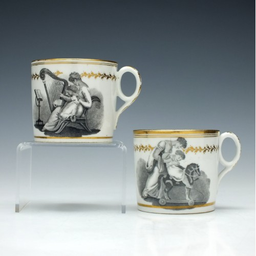 Two Newhall Mother And Child Coffee Cans c1805
