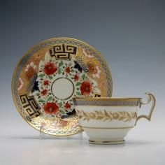 Swansea Porcelain Teacup & Saucer c1815