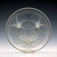 Signed Rene Lalique Opalescent Volubilis Glass Bowl c1920