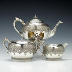 Victorian Silver Tea Service Glasgow 1876