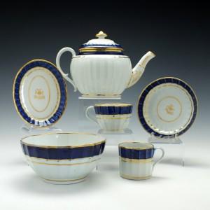 Four Person Coalport Porcelain Tea Service c1810