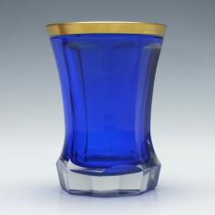 Bohemian Gilded Blue Glass  Beaker c1880