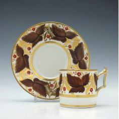 Flight Barr Worcester Coffee Can & Saucer c1820