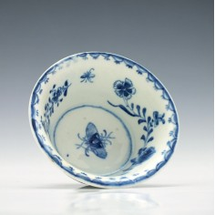 Lowestoft Blue & White Patty Pan c1770