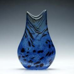 Cobalt Blue Art Glass Vase