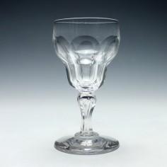 Val St Lambert Wine Slice Cut Wine Goblet c1900
