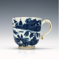 Caughley Two Temples Pattern Coffee Cup c1780