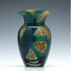 Mdina Tiger Cased Glass Vase 1990