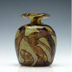 Mdina Earthtones Glass Vase c1975