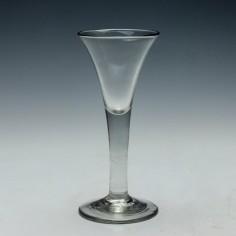 Drawn Trumpet Bowl Wine Glass c1750