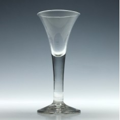 18th Century Plain Srem Wine Glass c1750