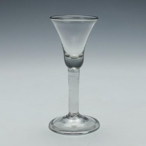 An 18th Century Plain Stem Wine Glass c1740