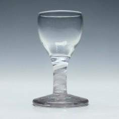 Rare 18th Century Single Seiies Opaque Twist Dram Glass c1760