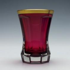Bohemian Gilded Ruby Gold Glass Beaker c1880