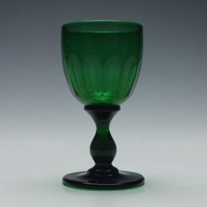 Victorian Green Wine Glass c1840