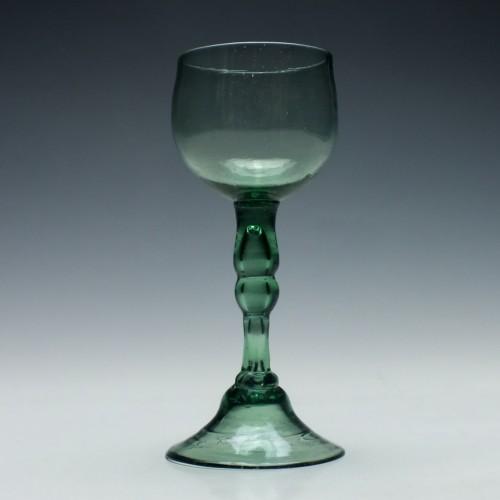 English Lead Export Wine Glass c1750