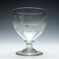 Fine Engraved Georgian Serving Rummer