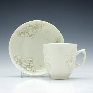 Bow Blanc De Chine Coffee Cup & Saucer c1755