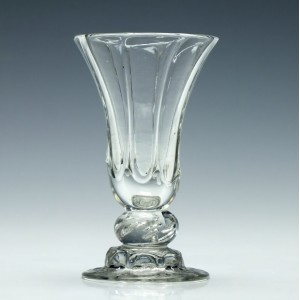 Georgian Air Beaded Dram Glass on Domed Foot c1750