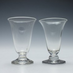 Pair of 19th century jelly glasses