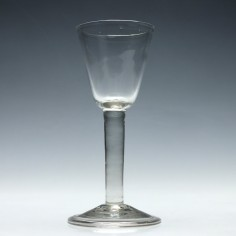 Georgian Wine Glass With Plain Stem c1750