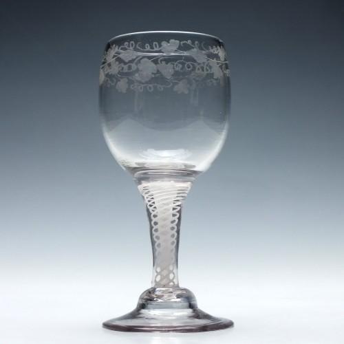Dutch Opaque Twist Wine Goblet c1770