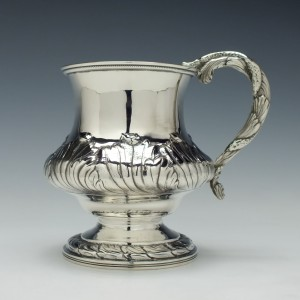 Unusual Georgian Silver Tankard London 1824