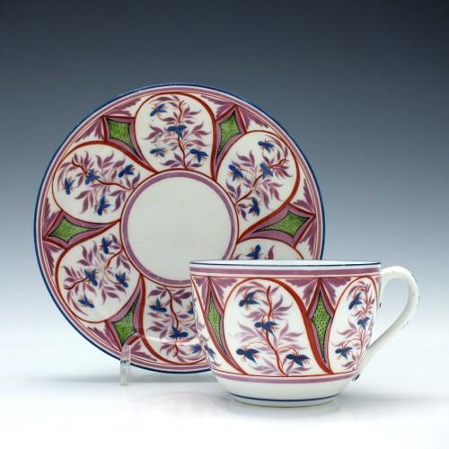 New Hall Tea Cup & Saucer c1815