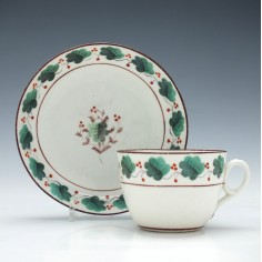 New Hall Porcelain Tea Cup & Saucer c1815