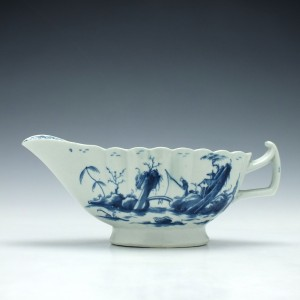 Worcester Fringed Tree Pattern Sauce Boat c1770