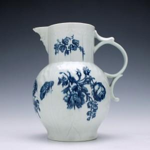Worcester Natural Sprays Pattern Porcelain Jug c1765