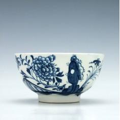 Lowestoft Peony Fence Rock Pattern Tea Bowl c1775