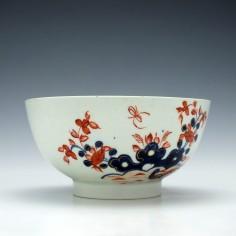 A Lowestoft Porcelain Two Birds Pattern Slop Bowl c1770