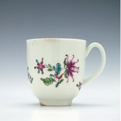 First Period Worcester Honeysuckle Coffee Cup c1765