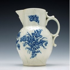 Caughley Bouquets Pattern Mask Head Jug c1785