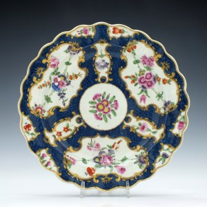 Worcester Porcelain Scale Blue Dessert Plate c1770