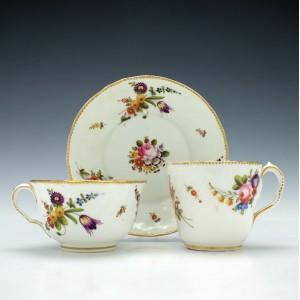 Swansea Porcelain Trio c1820