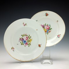 Pair of Swansea Porcelain Dessert Plates c1820