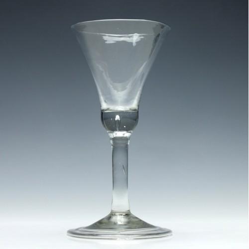 Large Georgian Plain Stem Glass Goblet c1740