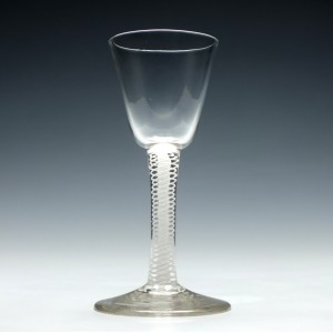 18th Century Opaque Twist Wine Glass c1750