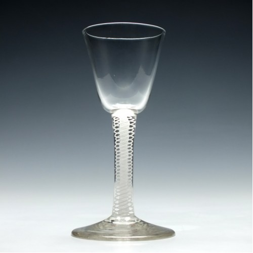18th Century Opaque Twist Wine Glass c1750