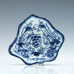 Bow Blue & White Pickle Dish c1775