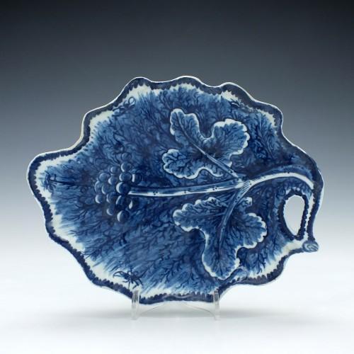 Bow Porcelain Leaf Dish c1780