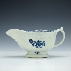Lowestoft Porcelain Sauce Boat c1775