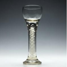 Large Josephinenhutte Opaque Twist Glas c1900