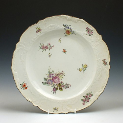 Large Chelsea Red Anchor Porcelain Plate c1755