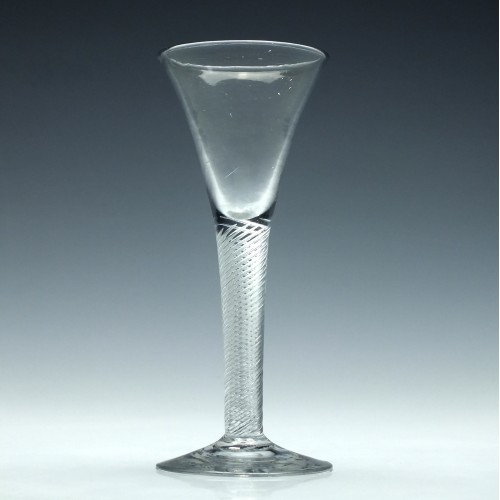 Georgian Multi Spiral Air Twist Wine Glass c1750