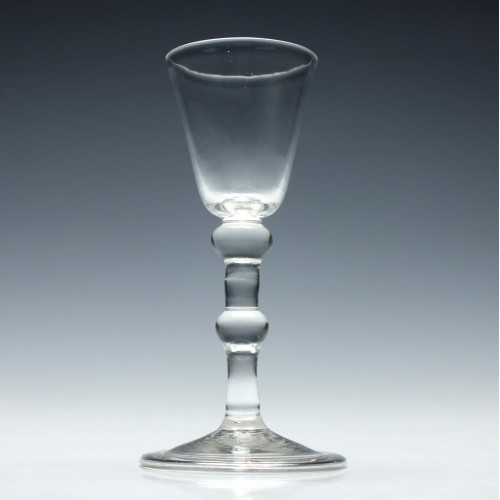 18th Century Balustroid Wine Glass c1740