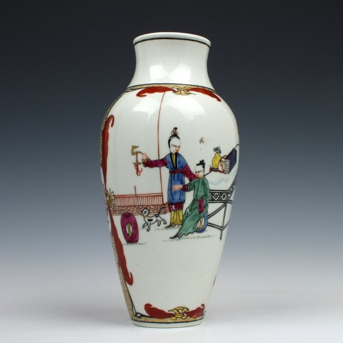First Period Worcester Vase c1770